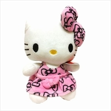 Cute Hello Kitty Plushie Toy Pink Dress 8inch