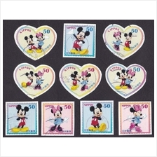 Japan 2012 G57 Greetings Mickey and Minnie stamp 10v USED