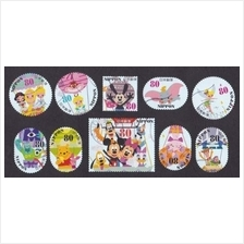 JAPAN 2013 G76 DISNEY Characters stamps 10v USED