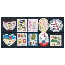 Japan 2014 G87 Disney Character Hello Kitty stamps 10v USED