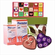 Happy Mother's Day Gift Set Pharmaton 100s + Card + Rose