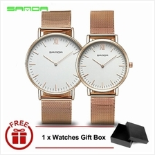 Original SANDA 208 Luxury Ultra Thin Stainless Steel Couple Watch RGWH
