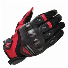 RS Taichi RST418 Velocity Mesh Carbon Gloves, Black/Red Colour