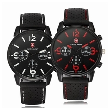 Swiss A 1102 2in1 SET Military Men's Silicone Strap 3 Dial Display