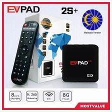 MV EVPAD 2S + PLUS Android TV Box Lifetime Free IPTV Malaysia