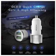 Rock Sitor QC3.0 Car Charger 2 USB Universal Dual 3.4A