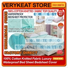 100% Cotton Knitted Fabric Luxury Waterproof Bed Sheet Bedsheet Cover