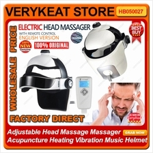 Adjustable Head Massager Acupuncture Heating Vibration Music Helmet