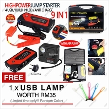 Power Bank 30000mAh Car Jump Jumper Start Starter+Tire Inflate Device