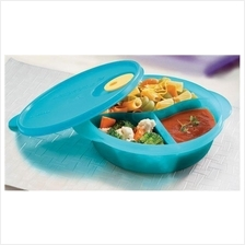 Tupperware Crystal Wave Divided Dish Lunch Box