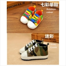Raya Sale Baby shoes Prewalker boy girl comfort fashion Canvas