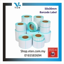 Barcode Label for Ink Ribbon barcode printer 50*30mm