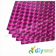 3D Wrapping Paper (30 Micron) (Pink) (50 x 70cm) (5 pcs/pkt)