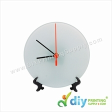 Glass Clock with Stand (Round) (A4)
