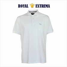 ROYAL EXTREMA BIG SIZE Cotton Polo T-shirt with Pocket RE2021 (Off White)