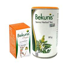 Bekunis Laxative for Constipation Relief Tablets + Herbal Tea 80g