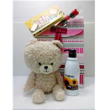 Cute Valentine's Gift Set With Teddy Bear & Wonder Lotion