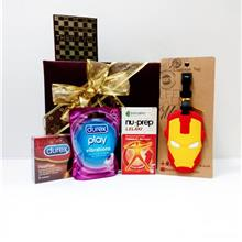 Elegant Valentine's Gift Set For Men with Durex Real Feel