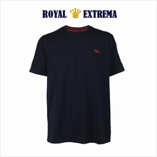 ROYAL EXTREMA BIG SIZE Cotton Round Neck T-shirt RE1001 (Black)