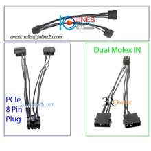 Dual 4 Pin molex to 8 Pin power converter cable GPU PCIe Mining Graphic Card 2