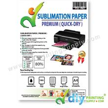 Sublimation Paper (Premium) (A4) (100 sheets/pkt) (Korea) [90% Transfe