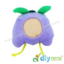 Button Badge Face Doll (Lavender)
