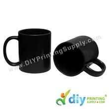 Laser Colour Mug (Full Black) (11oz) with Box