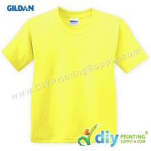 Gildan Cotton Tee (Round Neck) (Yellow) (XXXL) (180gsm)