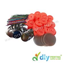 Button Badge Hair Pin with Mylar (25mm) (48 ? pcs/pkt)