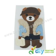 Garment Materials with Clear Transfer Tape (Teddy Bear)