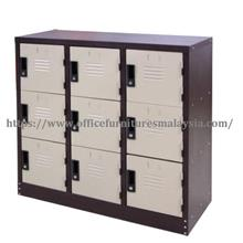 9 Compartment Half Height Steel Locker OFM1278A | Office Furniture KL