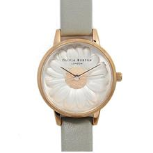 Olivia Burton Flower Show Moulded Daisy Grey & Rose Gold)