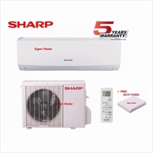 Sharp 2.0hp Air Conditioner AHA18UCD & AUA18UCD (R410a) + Free Towel