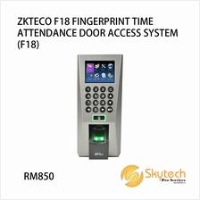 ZKTECO F18 FINGERPRINT TIME ATTENDANCE DOOR ACCESS SYSTEM (F18)