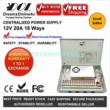 Centralized 12V 20A 240W 18 Way Full Rated DC Switching Power Supply