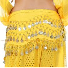 Belly Dance Costume 128 Gold Coins YELLOW