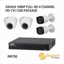 DAHUA 1080P FULL HD 4 CHANNEL HD-CVI 1200 PACKAGE