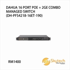 DAHUA 16 PORT POE + 2 GE COMBO MANAGED SWITCH (DH-PFS4218-16ET-190)