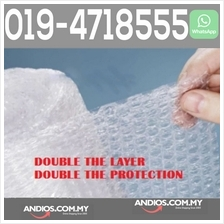 Double Layer Bubble Wrap Roll 10meterX1meter Post Parcel Buble Pos