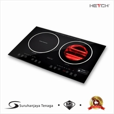 HETCH 2 in 1 Induction + Halogen Cooker 1500W + 1600W