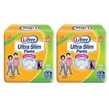 Lifree Ultra Slim Pants Adult Diapers XL 9pc X 2packs