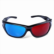 WONDERFUL SUNGLASSES-SHAPED RED + BLUE LENS ANAGLYPH CIRCULARLY 3 DIME