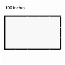 100 INCH 16:9 PORTABLE TABLETOP PROJECTOR SCREEN (WHITE)