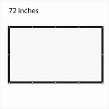 72 INCH 16:9 PORTABLE TABLETOP PROJECTOR SCREEN (WHITE)