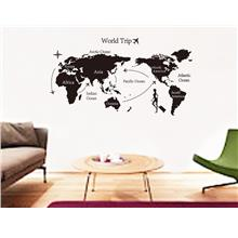 World map sticker price harga in malaysia jadegourd world map wall sticker w6092 gumiabroncs