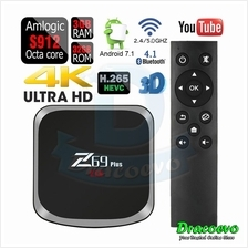Z69 Plus Smart Android TV Box 7.1 Amlogic S912 3GB 32GB Wifi HD 4K Med