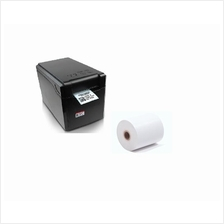 2-in-1 Thermal Barcode Label & Receipt Printer with 1 roll Thermal Pap