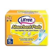 Lifree Absorbent Pads 18pc (to Stick on Adult Diaper)