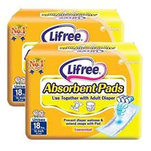 Lifree Absorbent Pads 18pc X 2sets (to Stick on Adult Diaper)