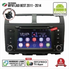 PERODUA MYVI LAGI BEST 7' ANDROID Double Din GPS Mirror Link Player